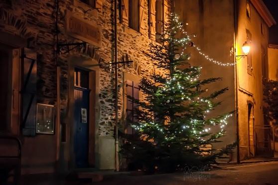 Vooruit dan, de schoolboom met ballen EN lichtjes!!